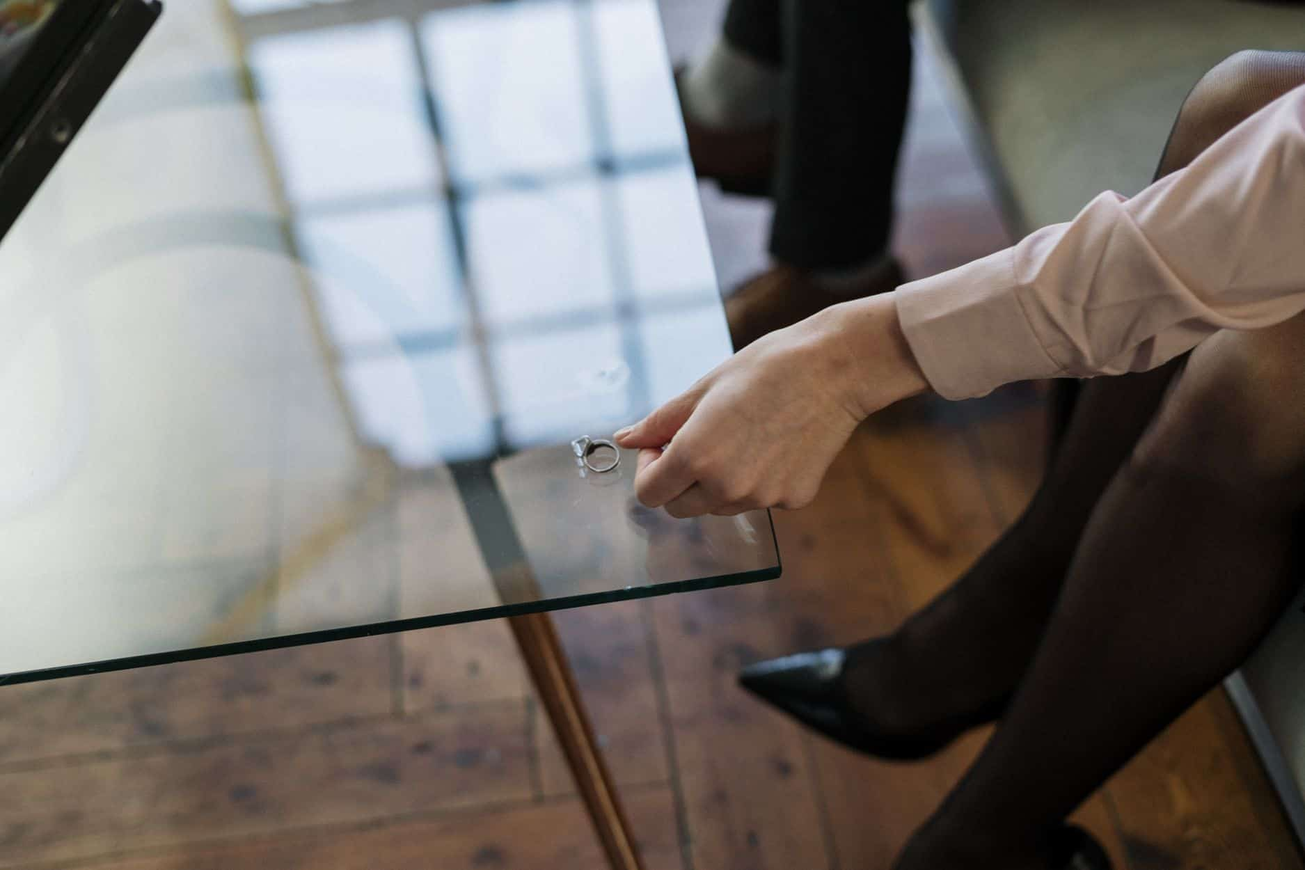 Los Angeles real estate blog - A woman putting a ring on a table